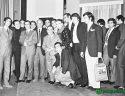 Κώστας Βουτσάς, Μάρω Κοντού, Νίκος Ρίζος με την ομάδα του Παναθηναϊκού το 1971.